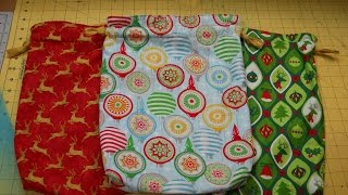 How To Sew A Holiday Gift Bag