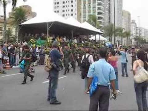 Desfile militar do 7 de setembro em Santos SP