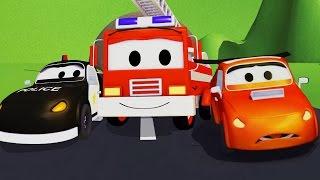 Mobil patroli: Truk Pemadam Kebakaran dan Mobil Polisi dan Balapan Mobil Yang Buruk di Kota Mobil
