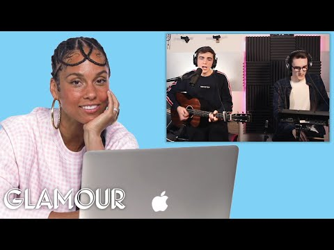 Alicia Keys Watches Fan Covers on YouTube Glamour