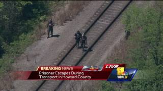 Video: Prisoner escapes during transport in Howard County