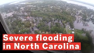 BREAKING 8 Month Pregnant Woman Clings to Tree to Escape Rising North Carolina Flood waters 9/19/18