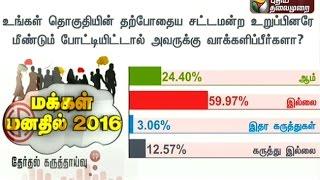 Makkal Manathil 2016 | Poll Survey  (18/03/16) | Puthiya Thalaimurai TV
