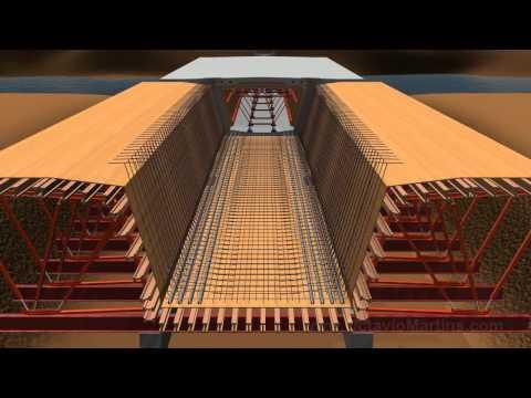 Bridge construction Incremental Launching 3D Animation