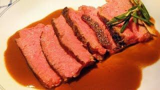EYE OF ROUND Steak & Sous Vide improvised method for tenderizing