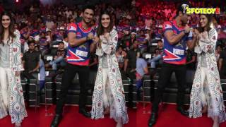 SPOTTED: Sushant Singh and Kriti Sanon Together at Super Boxing League | SpotboyE