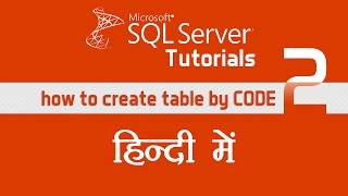 SQL Server Tutorial Part 2 , How to create table by coding  in sql server   (mentorsadda.com)