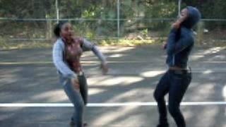 TWO BLACK GIRS DANCING