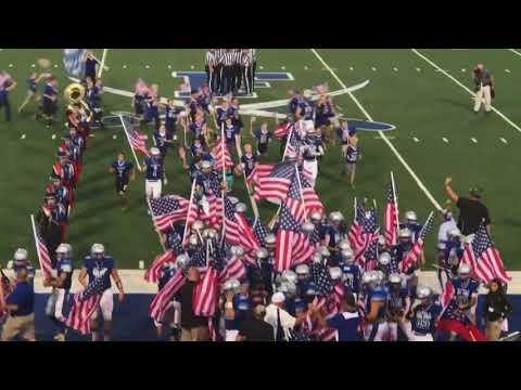 Xxx Mp4 Entire High School Football Team Runs Out With American Flags 3gp Sex