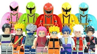 Power Rangers Mystic Force & Naruto Shippūden Unofficial LEGO Knockoff Minifigures