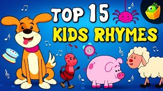 Top 15 Favourite Songs | Popular Collection Of Animated English Nursery Rhymes in HD For Kids