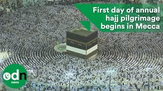 First day of annual hajj pilgrimage begins in Mecca