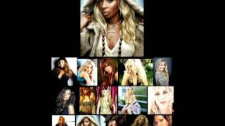 Just stand up to Cancer: Mariah Carey, Beyoncé, Mary J. Blige, Rihanna, Fergie, Sheryl Crow, Melissa Etheridge, Natasha Bedingfield, Miley Cyrus, Leona Lewis, Carrie Underwood, Keyshia Cole, Leann Rimes, Ashanti and Ciara.