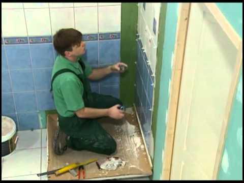 Pose de fa ence salle de bains par william amador - Faience murale salle de bain ...