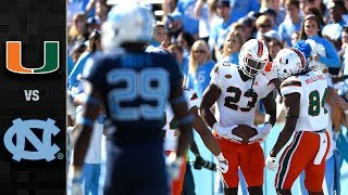 Miami vs. North Carolina Football Highlights (2017)