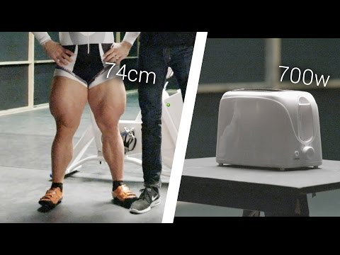 Olympic Cyclist Vs. Toaster: Can He