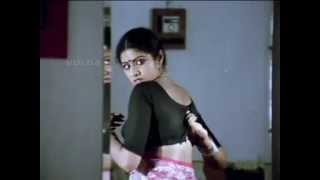 Sridevi removing her blouse and showing her mole and white bra
