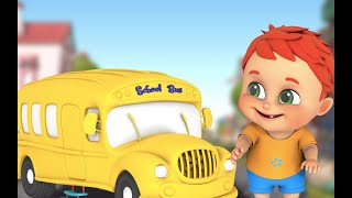 Wheels on the bus - Learn English with songs for children| Jugnu Kids