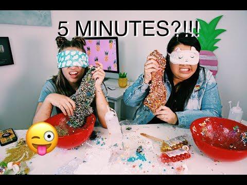 Xxx Mp4 5 Minute Blindfolded Slime Challenge With Karina Garcia 3gp Sex
