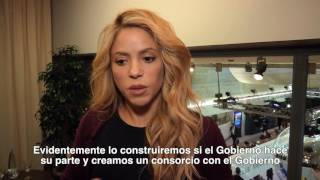 "Shakira: ""Today's babies will solve tomorrow's problems"" (Reuters interview, Davos)"