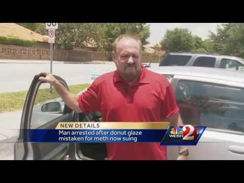 Police mistake doughnut glaze for meth, man sues over arrest