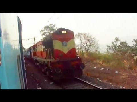 Single ALCO hauling Konark express climbing Bor Ghat | Indian trains