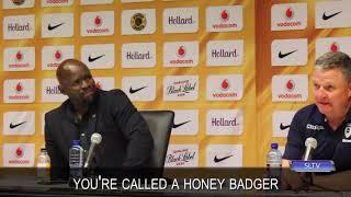 Gavin Hunt tells Steve Komphela to google a honey badger.