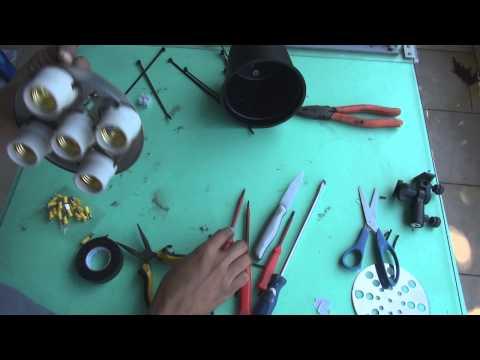 how to make Como fazer um refletor de lâmpada fria