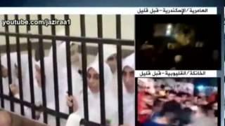 مذيع الجزيرة يطرد سليمان الحكيم من الاستديو بعد ان شتم والد احدى الفتيات المحبوسات 11 سنة