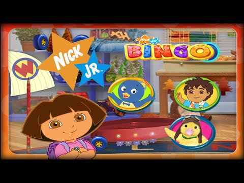 Dora and Friends Nick Jr. Bingo Fun and educational for kids