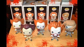 FUNKO POP complete PENNYWISE FIGURE COLLECTION from IT! Unboxing & Review