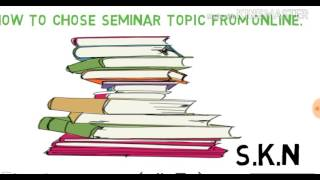"""""""Best Seminar topics""""  for science students 
