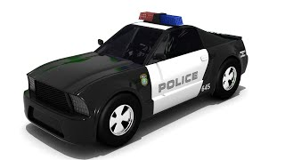sergeant cooper the police car | Police car cartoon for children | Police helicopter cartoon