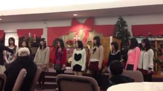 January 2,2013 Japanese exchange students singing halleluja