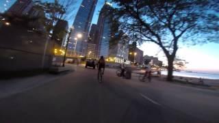 Bike Ride Chicago   Adler Planetarium to Fullerton & Ashland   GoPro Hero 3+