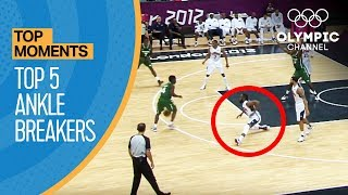 Top 5 Olympic Basketball Ankle Breakers | Top Moments