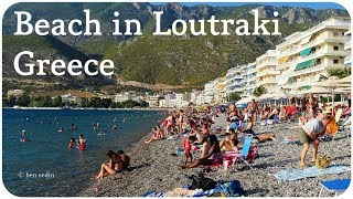 Beach in Loutraki, Greece (Full HD)