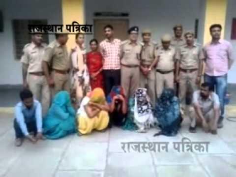 दलालों के साथ पांच महिला गिरफ्तार