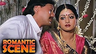 Jackie Shroff, Sridevi First Night | Romantic Scene | Jawab Hum Denge | Jackie Shroff, Sridevi | HD