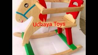 UDHAYA TOYS wooden rocking horse in nagercoil Tamil Nadu India
