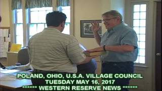 POLAND VILLAGE COUNCIL SWEARING IN