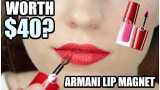 IS IT WORTH IT? | NEW Armani Lip Magnet Liquid Lip