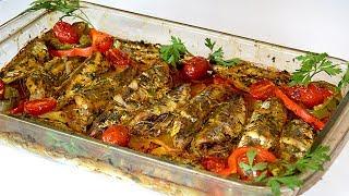 وجبة غداء صيفية سمك في الفرن خفيفة رخيصة سريعة التحضير وروعة في المذاق