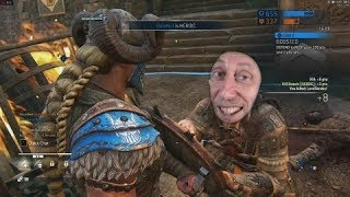 For Honor Player Thinks He's Good at Valkyrie (and proven wrong)