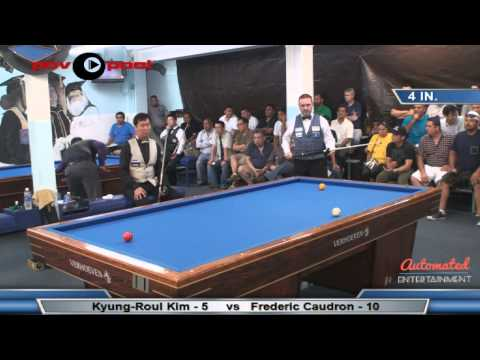 FINAL MATCH Million Dollar Billiards Frederic Caudron vs Kyung Roul Kim 김� 률