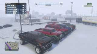 GTA 5 Trucking up Mt Chiliad in SNOW (Live Comm)
