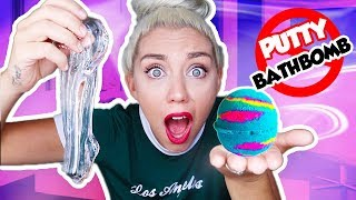DO NOT MIX CLEAR PUTTY SLIME AND BATH BOMBS TOGETHER! PUTTY SLIME VS BATH BOMBS!
