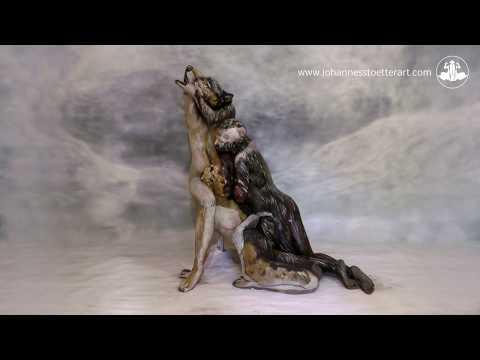 The Wolf - Fine Art Bodypainting by Johannes Stötter