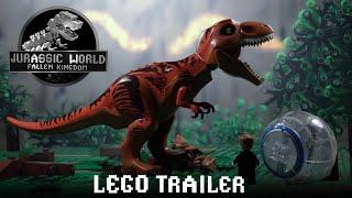 Jurassic World Fallen Kingdom Trailer in LEGO