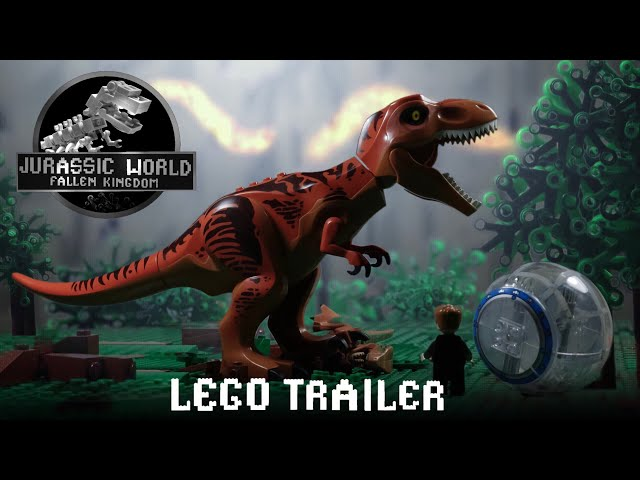 Jurassic World Fallen Kingdom Trailer in LEGO